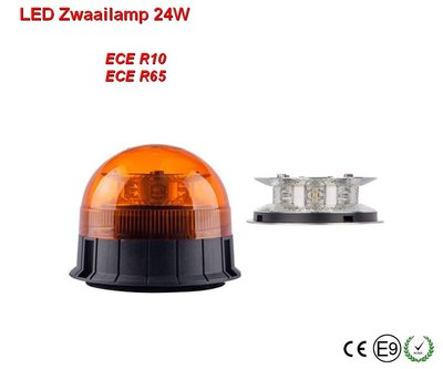 LED Zwaailamp 24w Oranje ECE/R65
