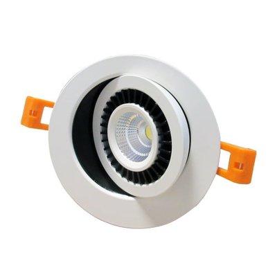 Inbouwspot AC-COB 7w 360 graden  verstelbaar Warm-wit  Dimbaar