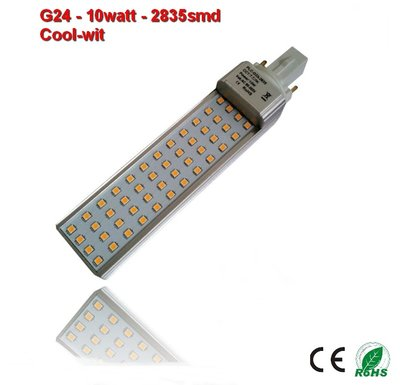 PL-G24d-10w-2835smd Cool-Wit 1060 lumen
