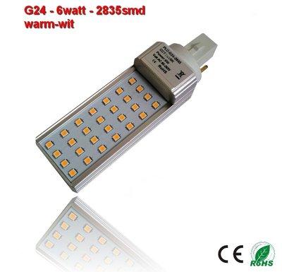 PL-G24d-6w-2835smd Warm-Wit 580 lumen