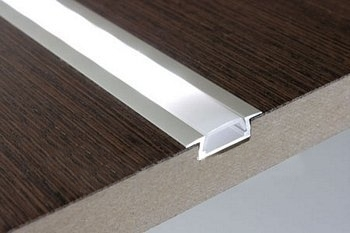Aluminium ledstrip profiel inbouw 100cm