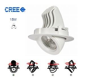 LED Verstelbare Inbouwspot 15w Cree warm-wit 900 lumen Dimbaar