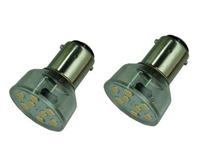 2x ba15s ledlamp met 8x2835smd- Short - Coolwit