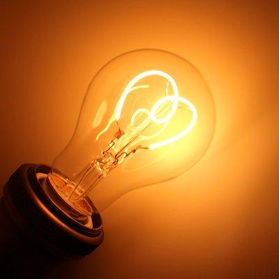 E27 Spiraal Vintage Heartshape Led lamp 3w Gold-warmwit Dimbaar