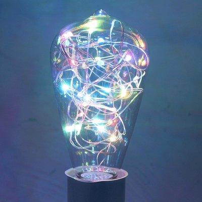 E27 - RGB-ST64 Led lamp 2w multicolor