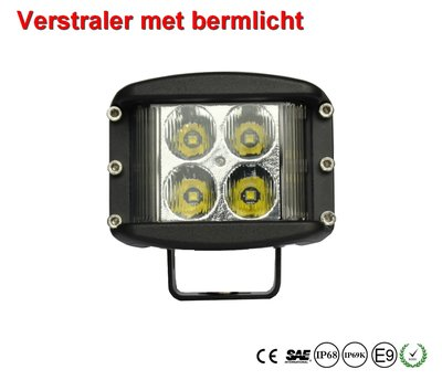 LED Sideshooter verstraler 27watt met bermlicht 180graden
