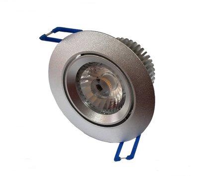 Inbouwspot AC-COB 7w CRI90 Warm-wit Dimbaar silver