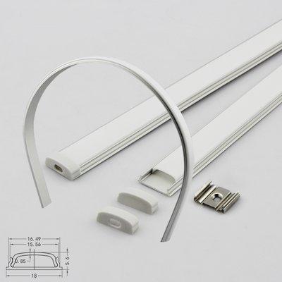 Aluminium ledstrip-profiel buigbaar 1meter