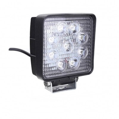 LED werklamp vierkant 27watt Lens: 60gr 2200lumen