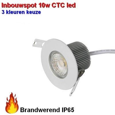Inbouwspot 10w Brandwerend waterproof CTC 3000-4000-6000 kleuren-switch  Dimbaar