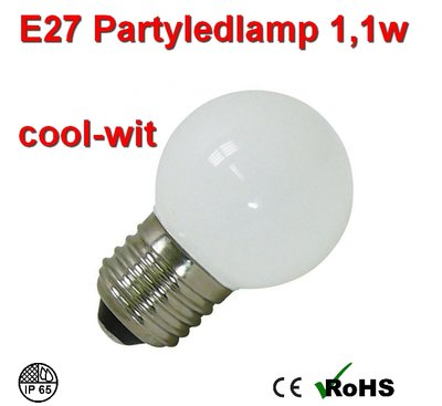 E27 Party ledlamp 1 watt coolwit Mini IP65