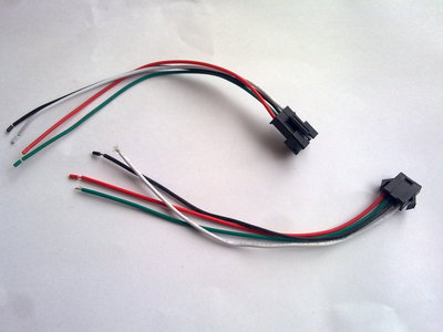 RGB LED Strip stekkerkabels 2x12cm
