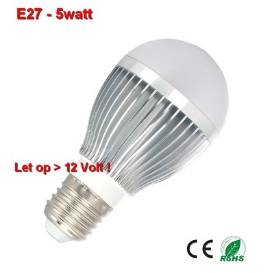 E27 lamp 5watt Cool-wit 12volt.