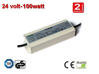 100w LED driver Voeding 24v TUV gekeurd IP67 waterproof