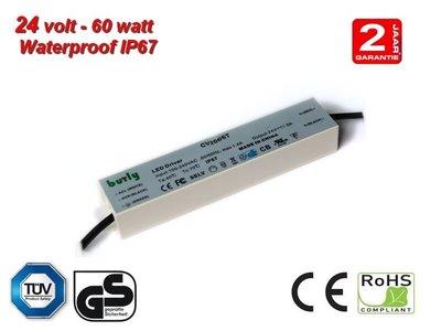 60w LED Voeding 24v TUV gekeurd IP67 waterproof