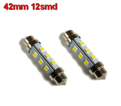 Buislampen 42mm 2835smd Cool-wit 10-40v