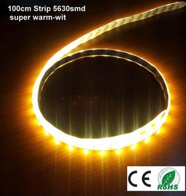 100cm LEDstrip Extra Warm-wit 60-5630smd 12watt -IP65 -1000 lumen