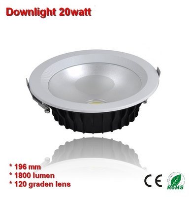 Downlight COB 20w Warm-wit 1800 lumen