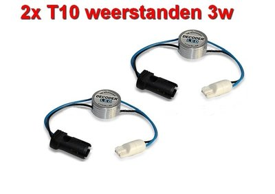 2 Resistors voor 12Volt T10 LED lampen