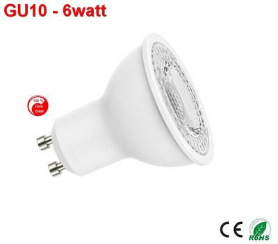 GU10 dimbare ledspot 6w warm-wit