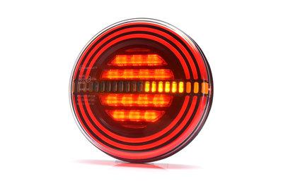 LED Neon Dynamisch Achterlicht hamburger model 12v/24v E9 keur
