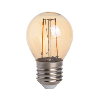 E27 Vintage G45 Led lamp 2w Gold-warmwit