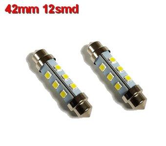 Buislampen 42mm 2835smd Warm-wit 10-40v