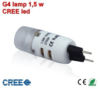 "G4 led CREE Warm-wit 110 lumen ""UITVERKOOP"""