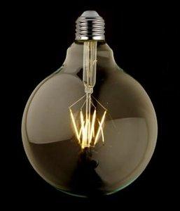 E27 Vintage G125 led lamp 3,5w Gold-warmwit Dimbaar