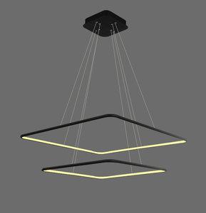 Led RP-design hanglamp 2 vierkant 90w warmwit