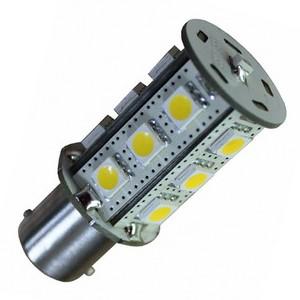 BA15S-15smd Cool-wit  - met lichtsensor 10-30v
