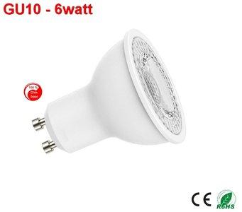 GU10 dimbare ledspot (wit) 6w Natural-wit