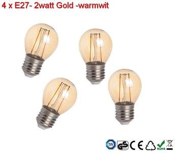 Led Lampen E27.4x E27 Vintage G45 Led Lampen 2w Gold Warmwit