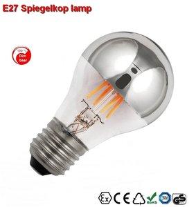 E27 Spiegelkop Led lamp 3,5w gold-warmwit Dimbaar