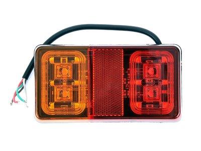LED Achterlicht 16 led rechthoek 12/24v